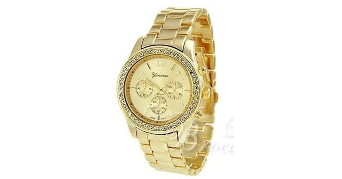 Studiomody.cz - Luxusní hodinky s krystaly Swarovski Elements- gold II.  jakost - II. JAKOST b04c938364