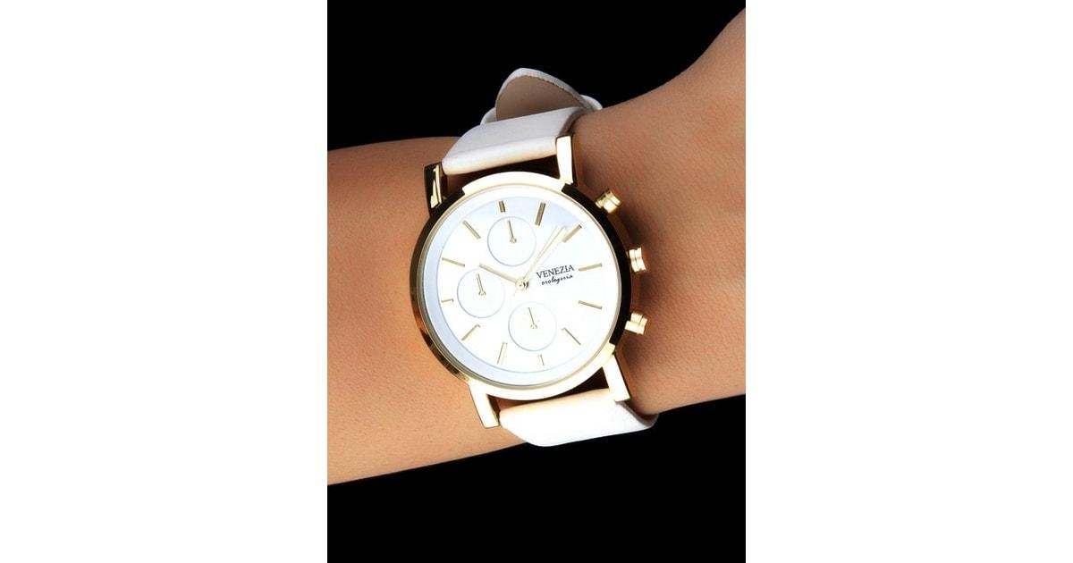 Studiomody.cz - Dámské hodinky v antickém stylu VENEZIA kolekce SIMPLE SOHO  - white gold - Hodinky - MÓDNÍ DOPLŇKY 2c8cd1dda4