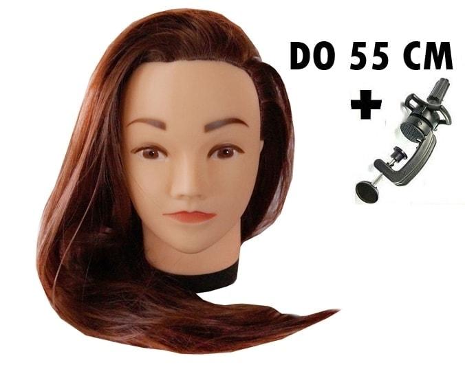 Cvičná hlava Jessica k prodlužování vlasů, střihy, účesy + stojan ZDARMA! II. Jakost