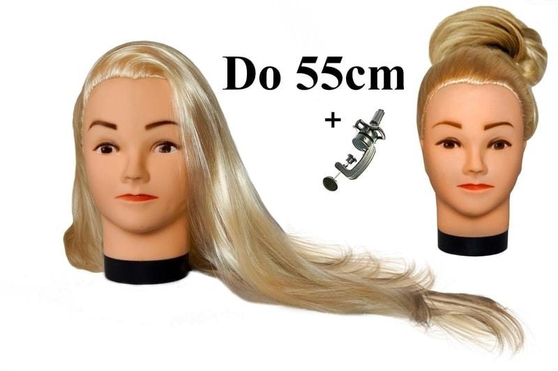 Cvičná hlava Lola k prodlužování vlasů, střihy, účesy + stojan ZDARMA! II. Jakost