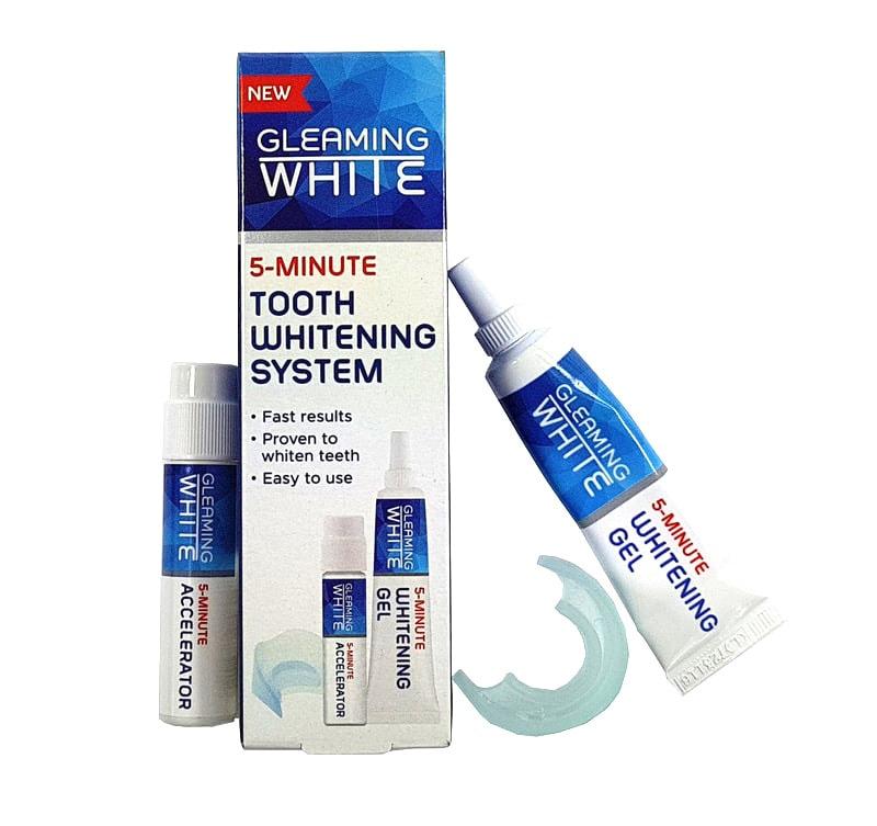 5 minutový bělící gel na zuby Gleaming white + náustek