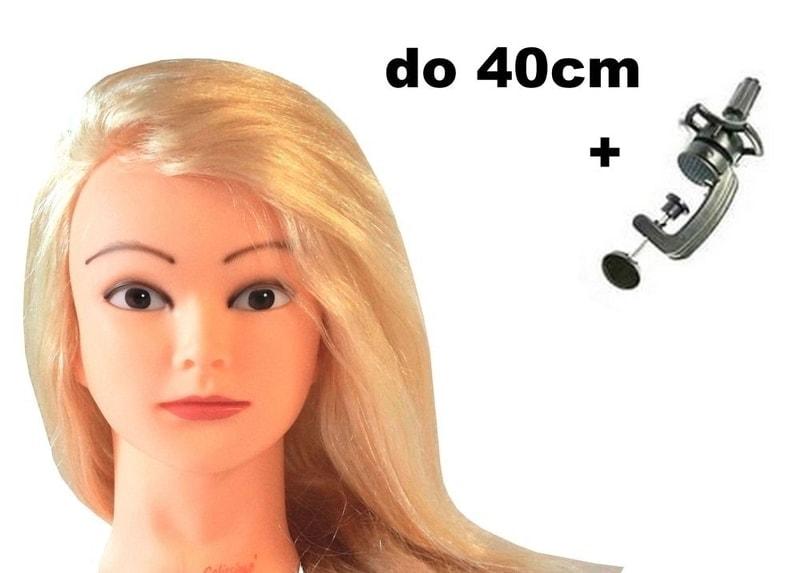 Česací hlava Claudie k prodlužování vlasů, střihy, účesy + stojan ZDARMA! II. jakost