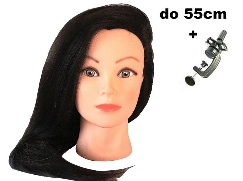 Cvičná hlava Sára k prodlužování vlasů, střihy, účesy + stojan ZDARMA! II. jakost