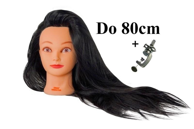 Cvičná hlava Soňa k prodlužování vlasů, střihy, účesy + stojan ZDARMA! Až 80 cm! ll.jakost
