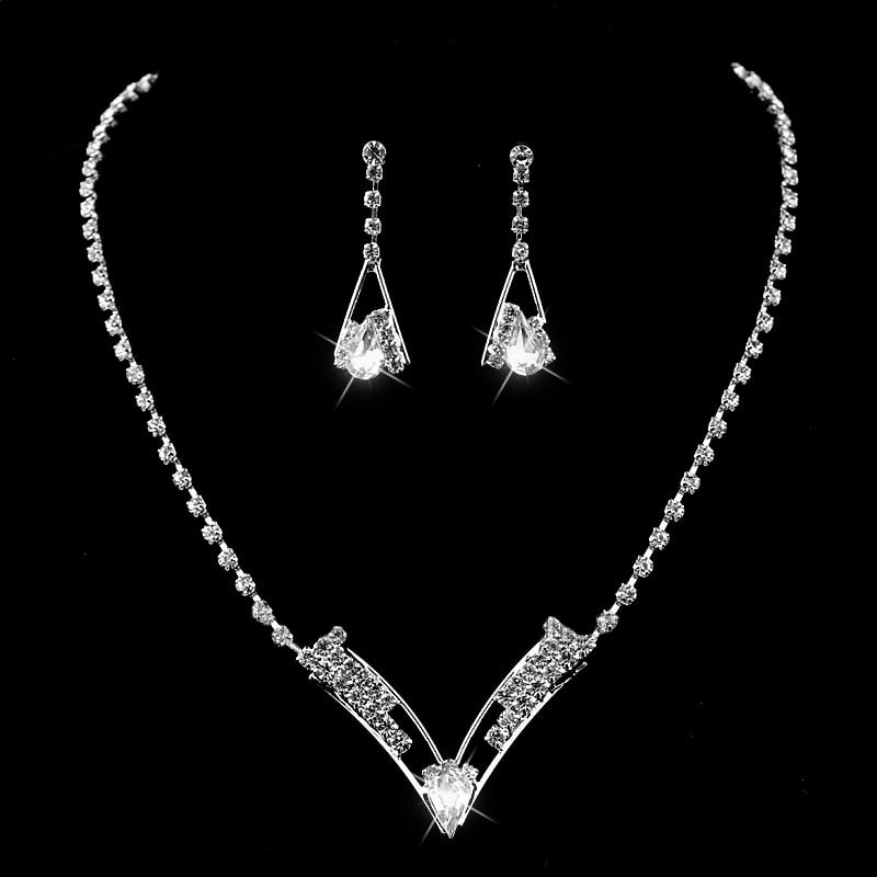 Luxusní sada náhrdelníku a náušnic - design 3