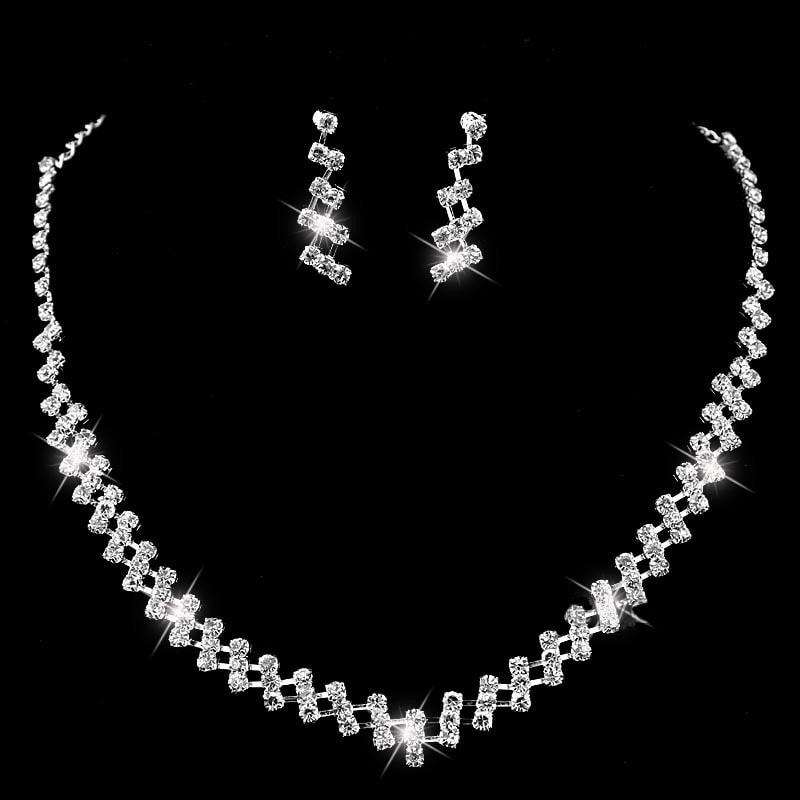 Luxusní sada náhrdelníku a náušnic - design 4