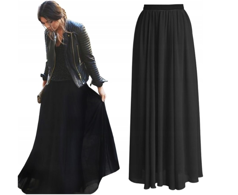 Krásná maxi sukně - black - S/M