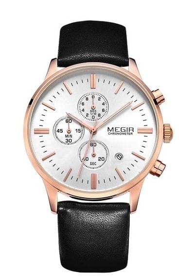 a08011f273e Nový model stylových pánských hodinek MEGIR Chronograph TLW11 - gold black