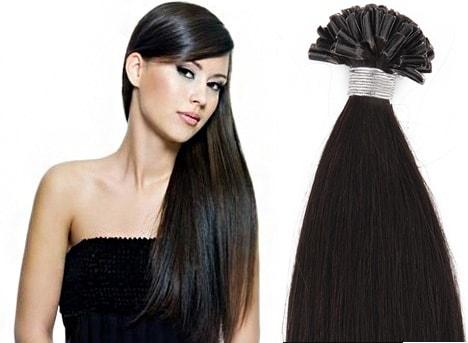 KERATIN- 100% Lidské vlasy k prodloužení REMY c6fd4fe29c8