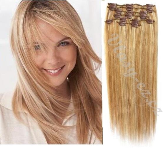 Studiomody.cz - CLIP IN vlasy - 100% Lidské vlasy k prodloužení REMY ... 3d4c6955016