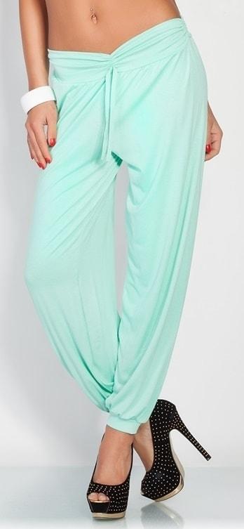 Moderní harémové kalhoty - mint c05a67e2b8
