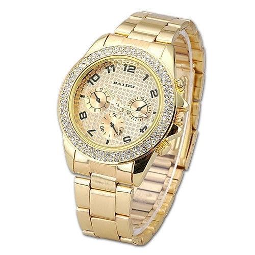 Studiomody.cz - Luxusní hodinky s krystaly Swarovski Elements - zlaté ... 5ac4238c44