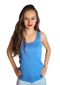 Studiomody.cz - Dámské bavlněné tílko - blue - Topy 2a81e1060e