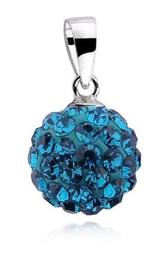 Studiomody.cz - Stříbrná kulička 10 mm se Swarovski Elements - blue ... 32b48430d82